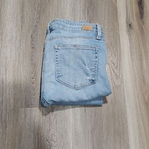 Paige jeans light wash Skyline Ankle peg Size 30